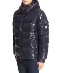 Moncler | Blue Maya Lacquered Down Jacket for Men | Lyst