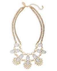 Natasha Couture - Metallic Crystal & Stone Statement Necklace - Lyst
