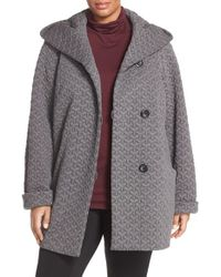 Gallery | Gray Quilted Hooded Jacket | Lyst