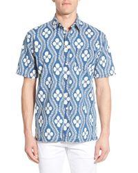 Pendleton | White 'camp' Print Short Sleeve Sport Shirt for Men | Lyst