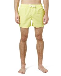 TOPMAN - Yellow Swim Trunks for Men - Lyst