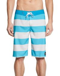 Quiksilver - Blue 'everyday Stripe 21' Board Shorts for Men - Lyst