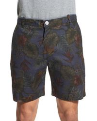 Descendant Of Thieves - Gray Floral Print Reversible Woven Shorts for Men - Lyst
