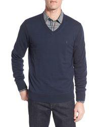 Victorinox | Blue Victorinox Swiss Army 'knifesmith' V-neck Sweater for Men | Lyst