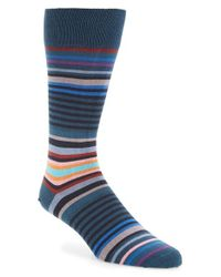 Paul Smith | Blue 'twisted Bright' Stripe Socks for Men | Lyst
