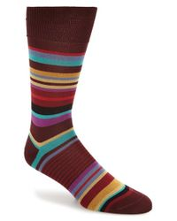 Paul Smith | Red Stripe Socks for Men | Lyst