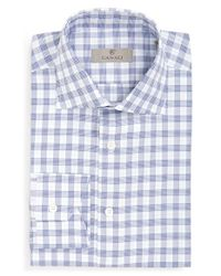 Canali | Blue Regular Fit Check Dress Shirt for Men | Lyst