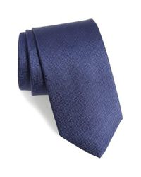 Eton of Sweden - Blue Herringbone Silk Tie for Men - Lyst
