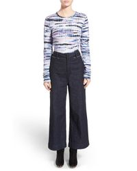 Proenza Schouler - Black Tie Dye Tissue Jersey Long Sleeved T-Shirt - Lyst