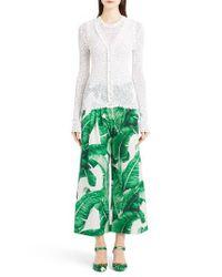 Dolce & Gabbana | White Open Knit Cardigan | Lyst