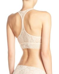 DKNY | Natural 'signature Lace' T-back Bralette | Lyst