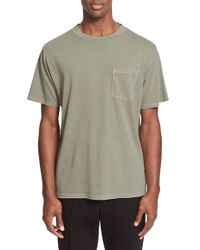 T By Alexander Wang - Green Pocket T-shirt for Men - Lyst