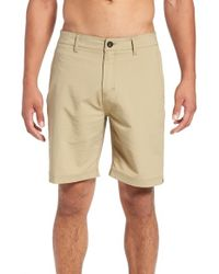 Quiksilver - Natural 'amp' Hybrid Twill Shorts for Men - Lyst