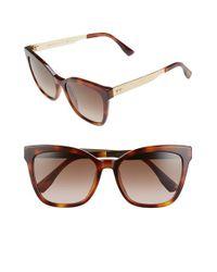 Jimmy Choo | Brown 55mm Retro Sunglasses - Havana | Lyst