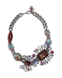 Alexander McQueen | Metallic 'flower Stone' Choker Necklace | Lyst