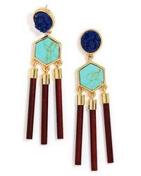 BaubleBar - Blue 'jungle' Drop Earrings - Lyst