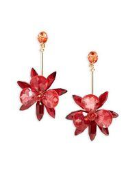 kate spade new york | Red 'blooming Brilliant' Drop Earrings | Lyst
