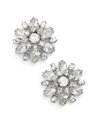 kate spade new york | Metallic 'trellis Blooms' Stud Earrings | Lyst