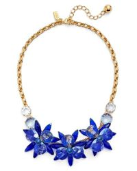 kate spade new york | Blue 'blooming Brilliant' Crystal Frontal Necklace | Lyst