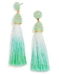 BaubleBar | Green 'hokkaido' Tassel Drop Earrings | Lyst