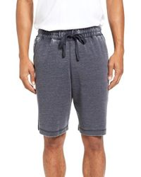 Daniel Buchler | Blue Washed Cotton Blend Terry Lounge Shorts for Men | Lyst