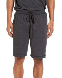 Daniel Buchler | Black Recycled Cotton Blend Lounge Shorts for Men | Lyst