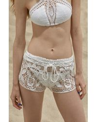 Lisa Maree - White 'simple Pleasures' Cover-up Shorts - Lyst