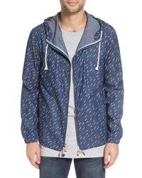 Altru   Blue 'foundry' Rain Print Chambray Jacket for Men   Lyst