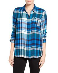 Lucky Brand - Blue 'bungalow Plaid' Button Back Shirt - Lyst