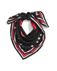 Givenchy   Black '17' Square Silk Scarf   Lyst