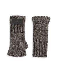 John Varvatos - Gray Cappuccino Fingerless Gloves for Men - Lyst