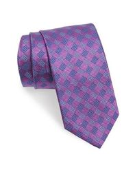 David Donahue | Purple Geometric Silk Tie for Men | Lyst