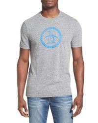 Original Penguin | Gray Distressed Logo T-shirt for Men | Lyst