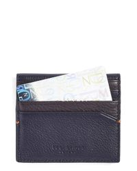 Ted Baker | Blue 'dinky' Leather Card Case for Men | Lyst