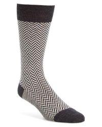 Pantherella | Gray Hatton Chunky Herringbone Socks for Men | Lyst