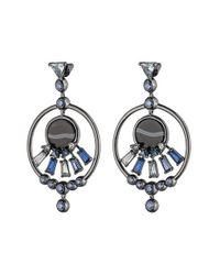Eddie Borgo | Blue 'europa' Crystal Drop Earrings | Lyst