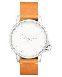 Miansai - White 'm24' Leather Strap Watch for Men - Lyst