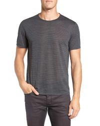 John Varvatos - Gray Stripe Crewneck T-shirt for Men - Lyst