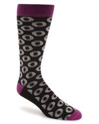 Ted Baker | Black Circle Pattern Organic Cotton Blend Socks for Men | Lyst