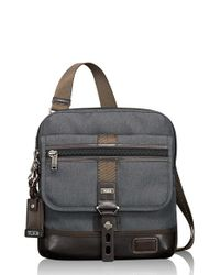 Tumi | Gray 'alpha Bravo - Annapolis' Crossbody Bag for Men | Lyst