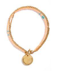 Half United - Orange 'the Laurel' Beaded Bracelet - Lyst