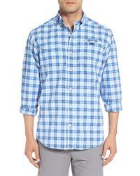 Vineyard Vines | Blue 'mearmeadows Harbor' Plaid Performance Shirt for Men | Lyst