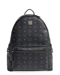 MCM | Black Medium Stark Coated Canvas Backpack | Lyst