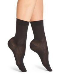 Falke   Black Cotton Blend Trouser Socks   Lyst