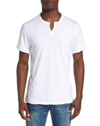 Alternative Apparel | White Notched Neck Pima Cotton T-shirt for Men | Lyst