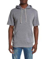 Alternative Apparel - Gray Short Sleeve Hoodie for Men - Lyst