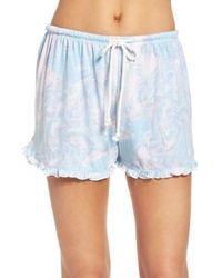 Make + Model | Blue Ruffle Shorts | Lyst