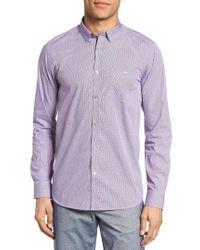 Ted Baker | Purple 'allibon' Trim Fit Dobby Sport Shirt for Men | Lyst