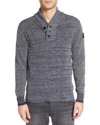 G-Star RAW | Gray 'dadin' Shawl Collar Sweater for Men | Lyst