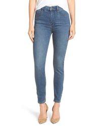 Free People Blue 'cyndi' High Rise Skinny Jeans